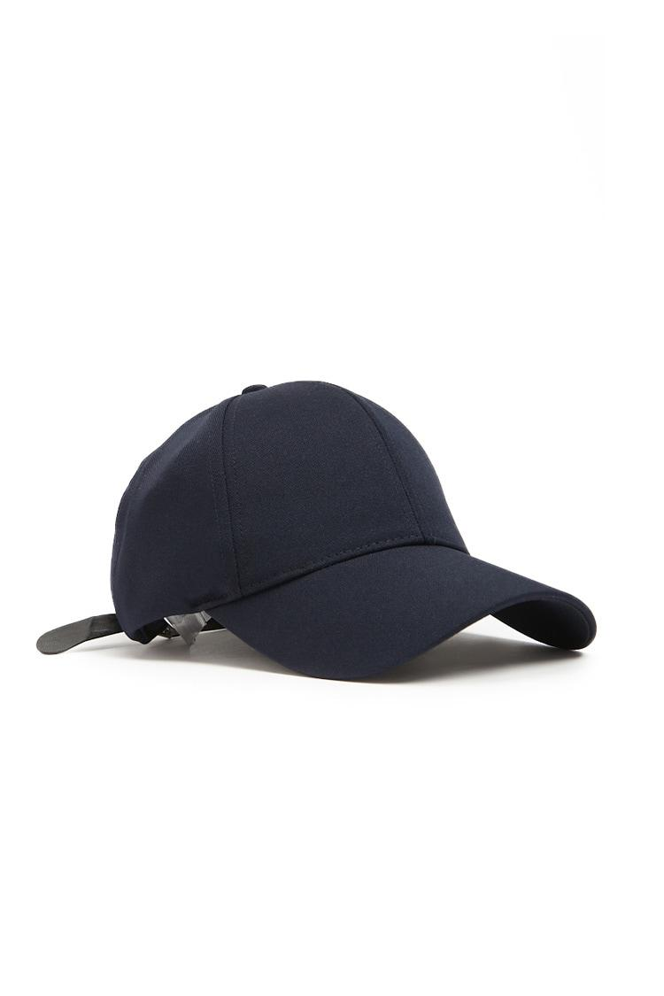 33407026a Forever 21 - Blue 's Faux Leather-strap Dad Cap for Men - Lyst. View  fullscreen