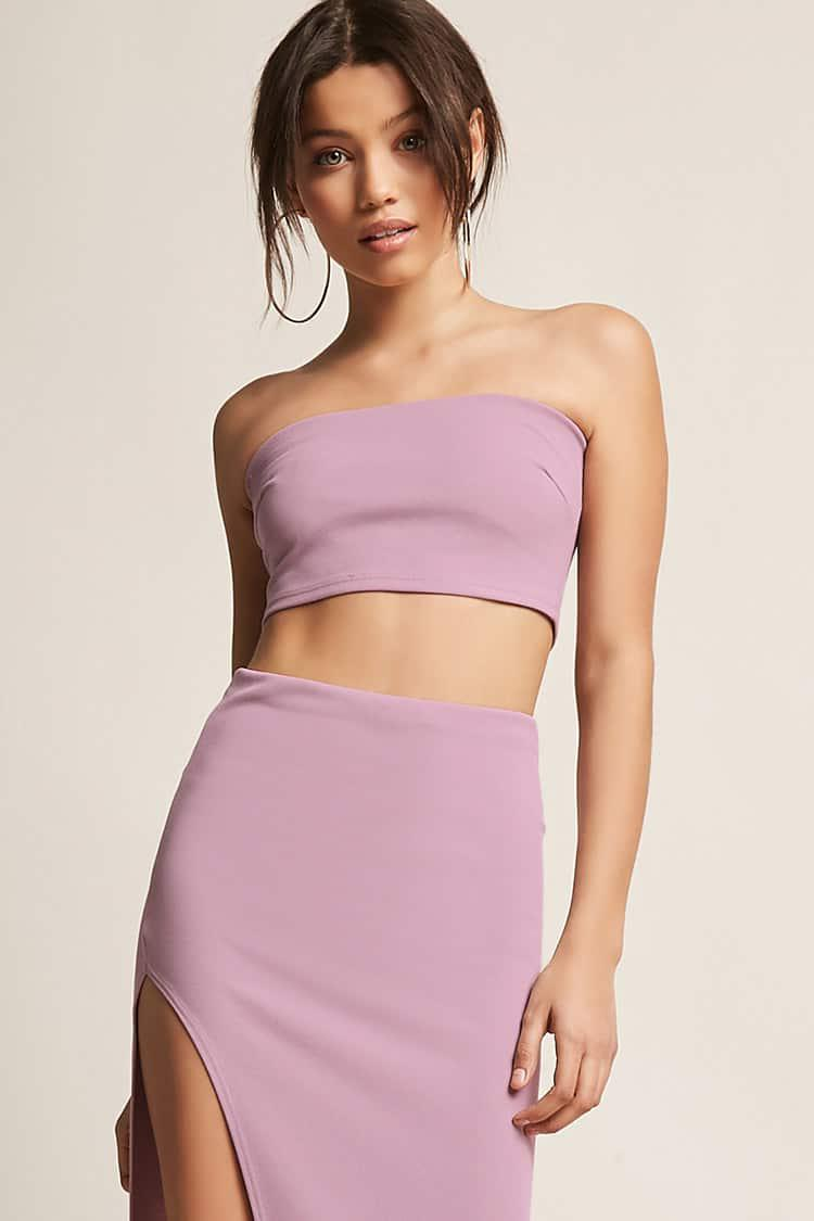 c57442397 Forever 21 Crop Tube Top & Maxi Skirt Set in Purple - Lyst