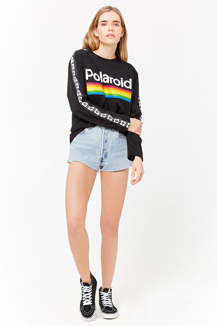 1bc16396b Forever 21 Polaroid Graphic Tee in Black - Lyst