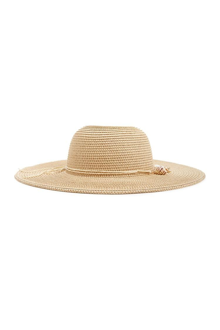 Forever 21 - Natural Seashell Charm Floppy Straw Hat - Lyst. View fullscreen 3f03f58c3370