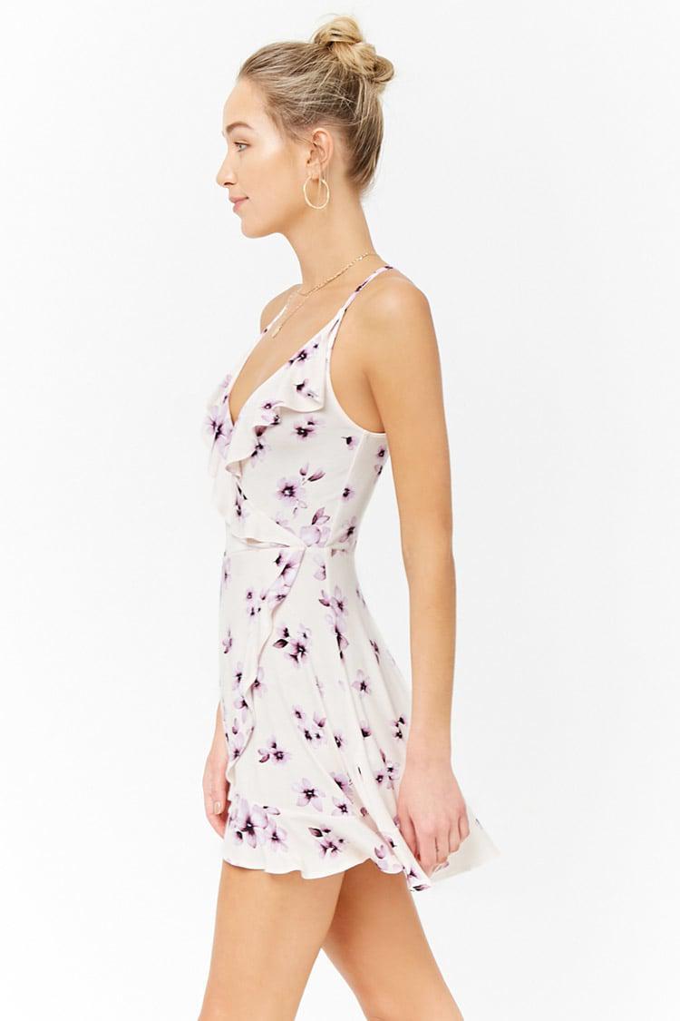 ... Floral Mock-wrap Dress - Lyst. View fullscreen 191e22a64