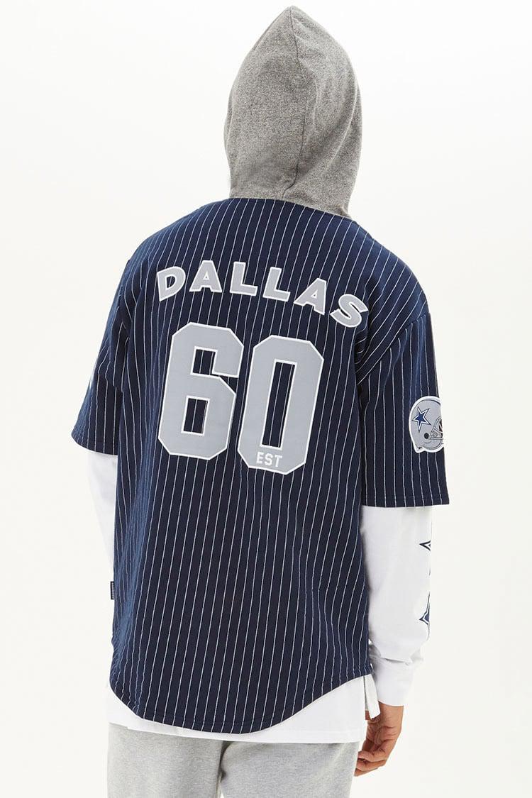 8a59e4bf1 Lyst - Forever 21 Nfl Cowboys Hooded Fleece Shirt in Blue for Men