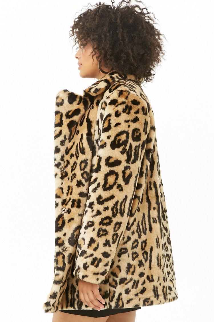 e56ba04a678 ... Plus Size Faux Fur Leopard Print Coat - Lyst. View fullscreen