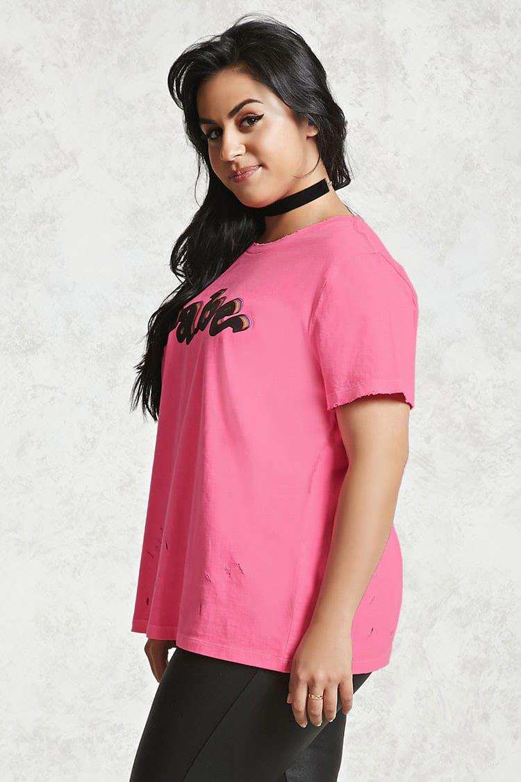 c588f0322 Forever 21 Plus Size Babe Graphic Tee in Pink - Lyst