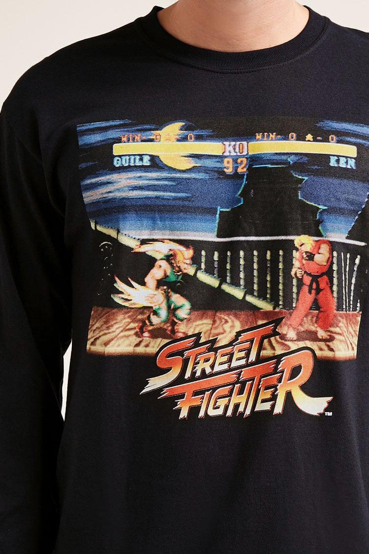 751d6281 Forever 21 Street Fighter Graphic Tee in Black for Men - Lyst
