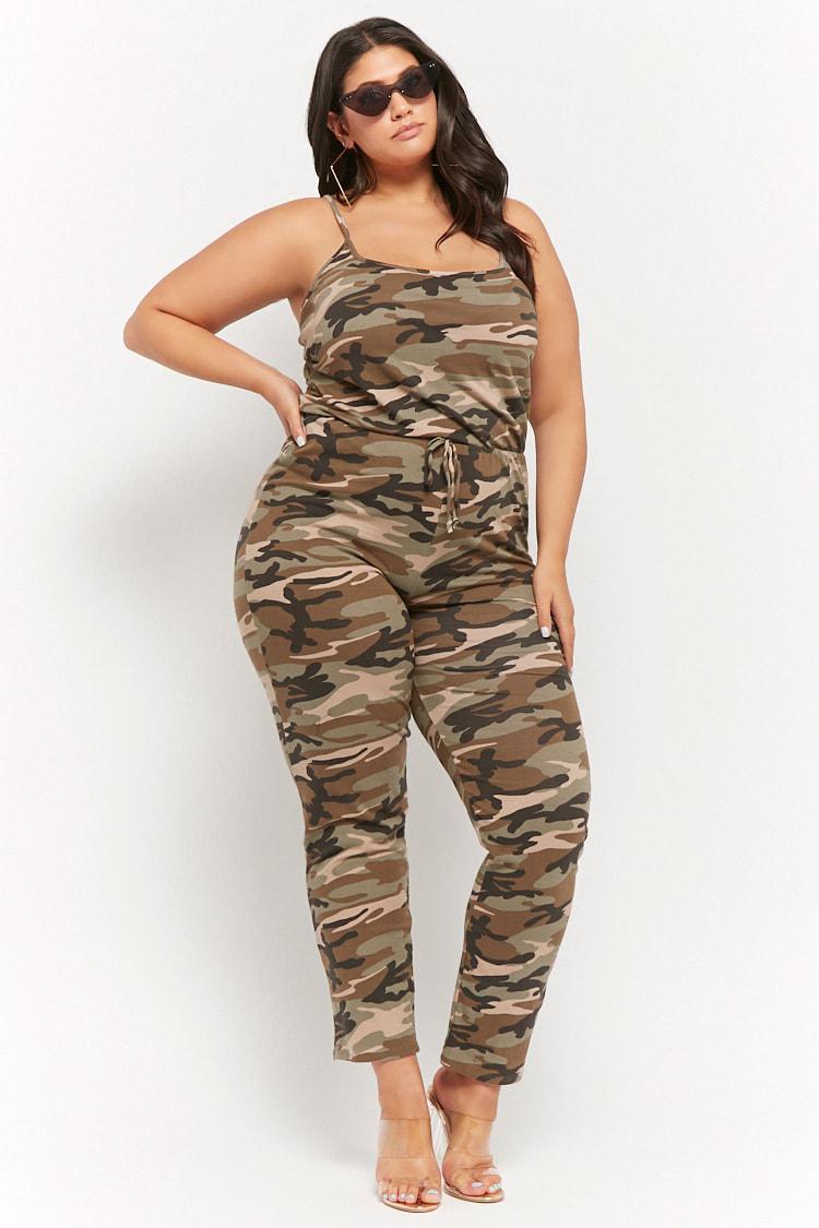 f3c359cfc42 Forever 21. Women s Plus Size Camo Print Jumpsuit
