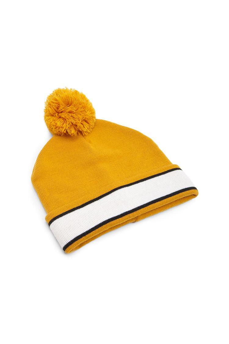 Forever 21 - Yellow Striped Ribbed Beanie - Lyst. View fullscreen af3a9ea566d