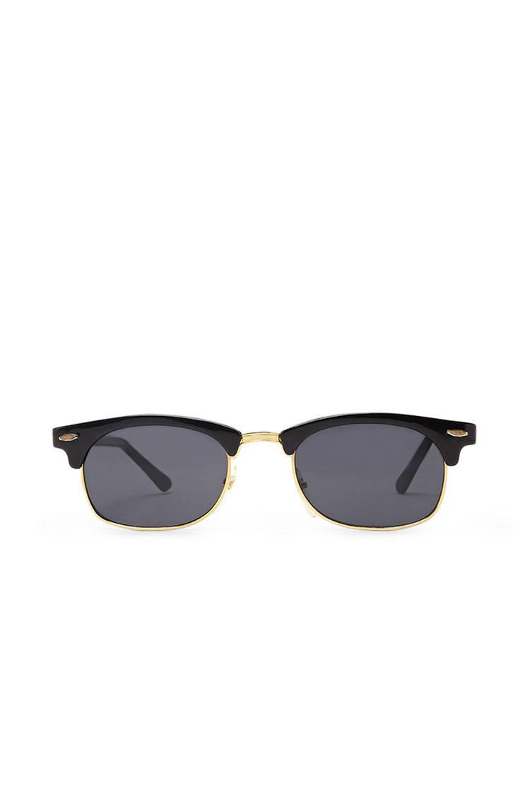 Lyst - Forever 21 Replay Vintage Browline Sunglasses in Black