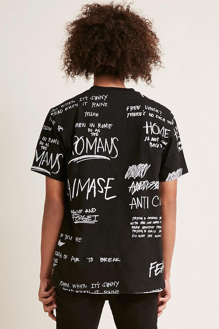 ... Black When In Rome Graphic Tee for Men - Lyst. View fullscreen