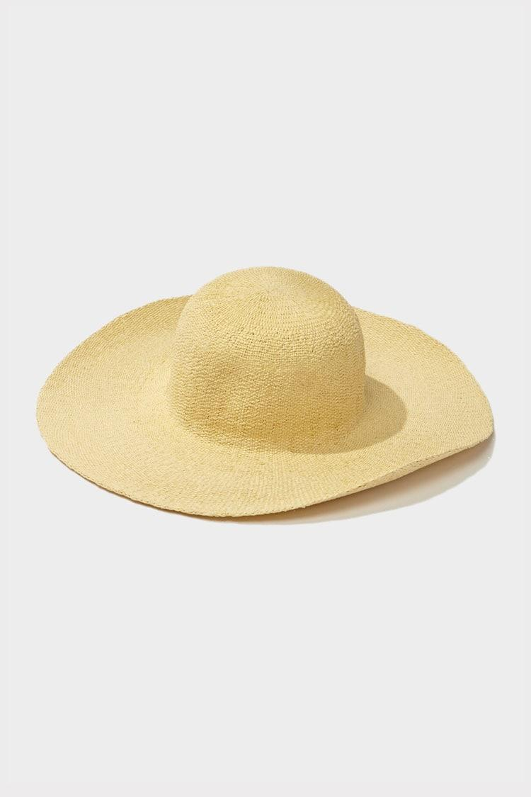 45ed6fed Forever 21 - Yellow Wide-brim Straw Hat - Lyst. View fullscreen