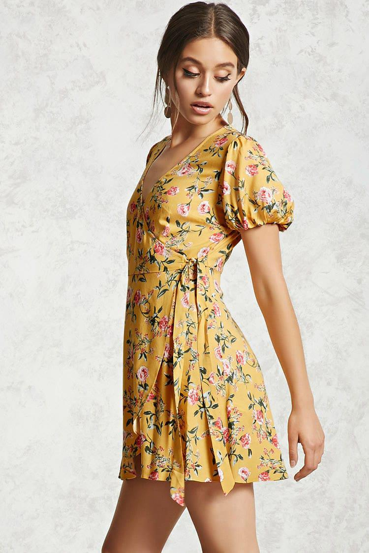 9b1362cb662 Floral Wrap Dress Forever 21 - Gomes Weine AG
