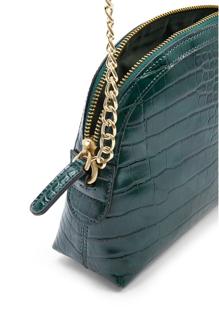 2cbbeab251 ... Crocodile Embossed Faux Leather Crossbody Bag - Lyst. View fullscreen
