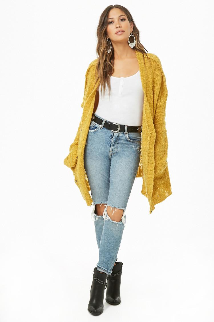 1d10f2122b86c Lyst - Forever 21 Oversized Loop Knit Cardigan