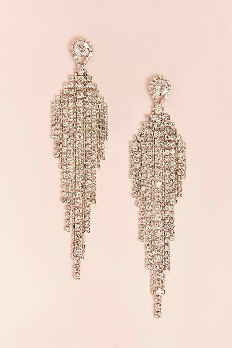 Lyst forever 21 rhinestone chandelier earrings gallery arubaitofo Choice Image