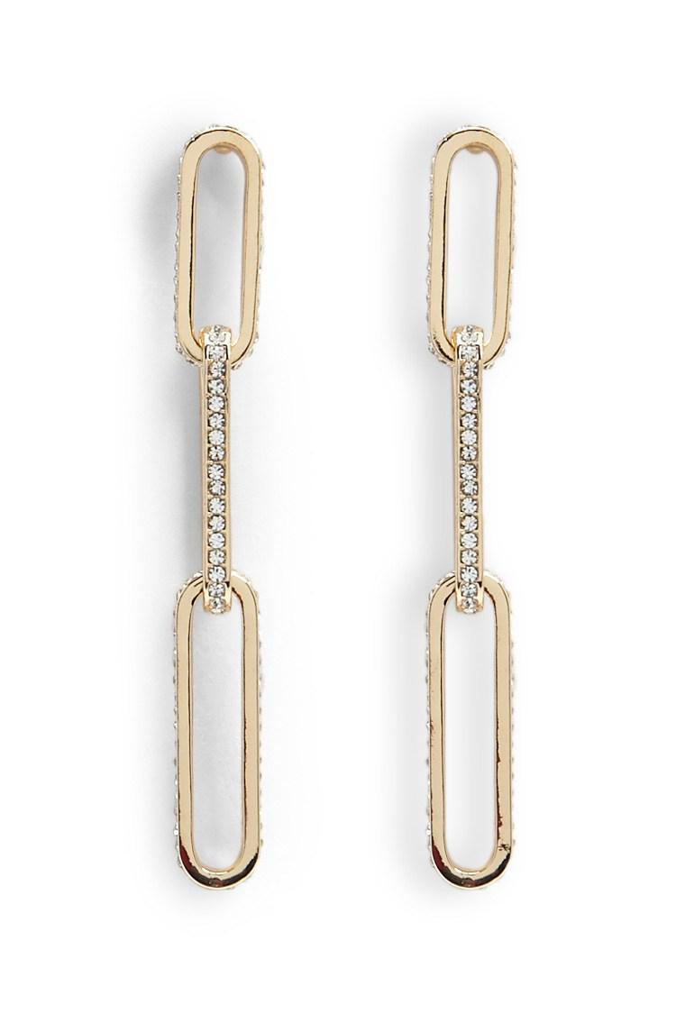 Forever 21 Women S Metallic Anchor Chain Drop Earrings