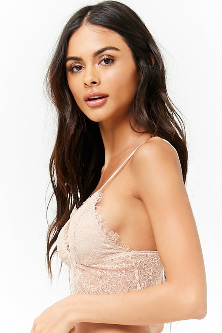 5f0cca71e5 Lyst - Forever 21 Chantilly Lace Bralette in Natural