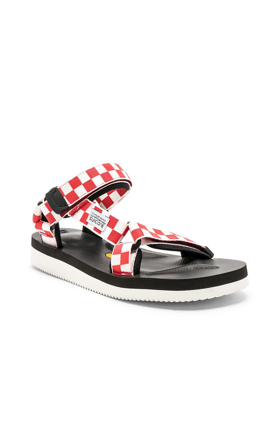 7a3e6df6a8cb Lyst - Suicoke Depa V2 Check in Red for Men
