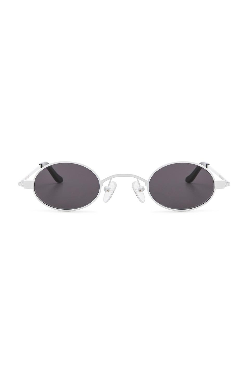 Doris Oval-frame Stainless Steel And Acetate Sunglasses - Black Roberi & Fraud