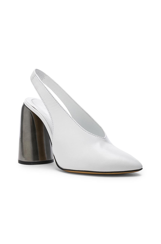 90df1a03f1b Lyst - Ellery Leather Slingback Heels in White
