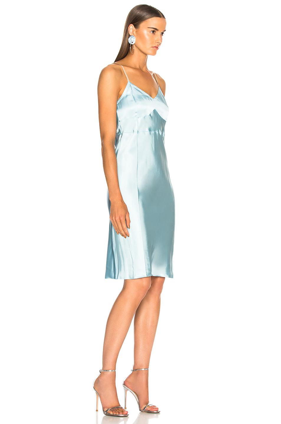c61cba928afb Helmut Lang Compact Slip Dress in Blue - Lyst