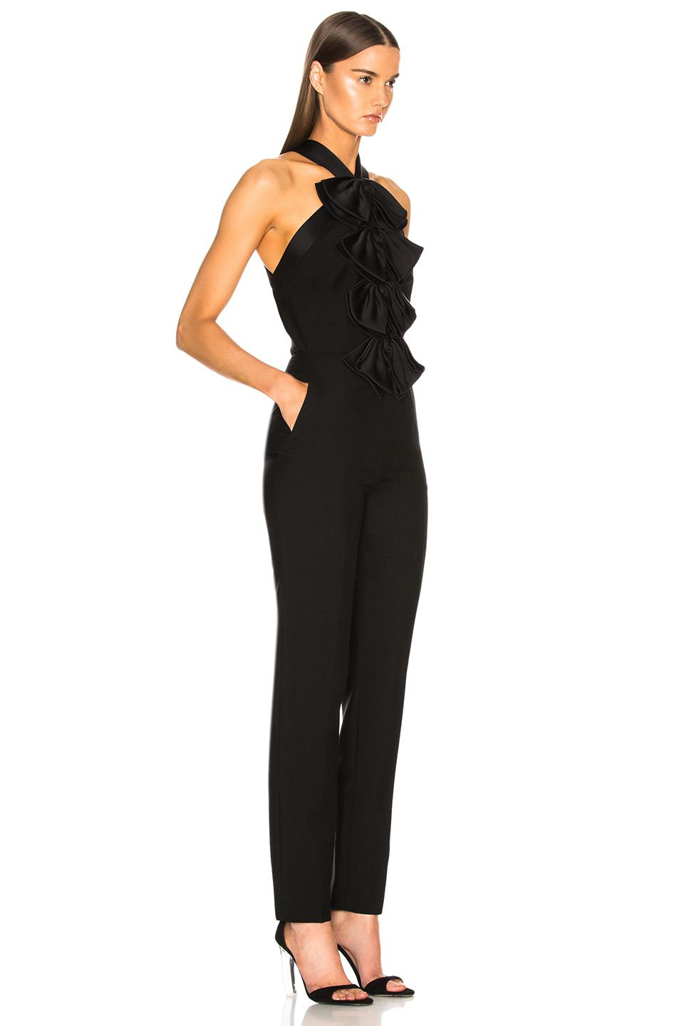 9865f644c63 Lyst - Givenchy Bow Front Cross Back Jumpsuit in Black