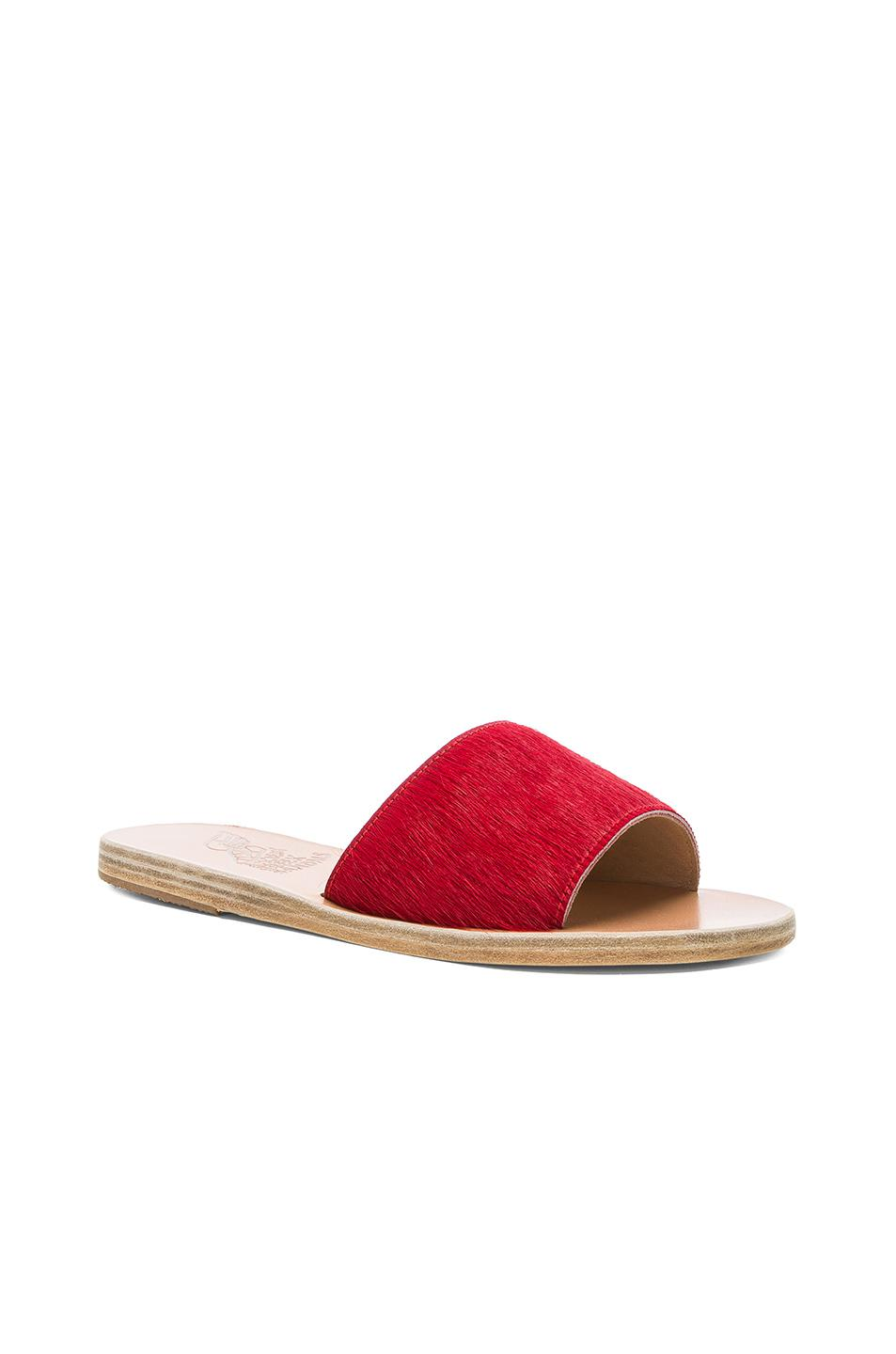 Ancient Greek Sandals Real Dyed Calf Hair Taygete Sandals in . jMFkmh28