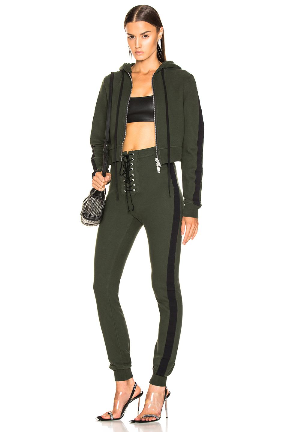9e42a83f96d Unravel Terry B Hoodie Jumpsuit in Green - Lyst