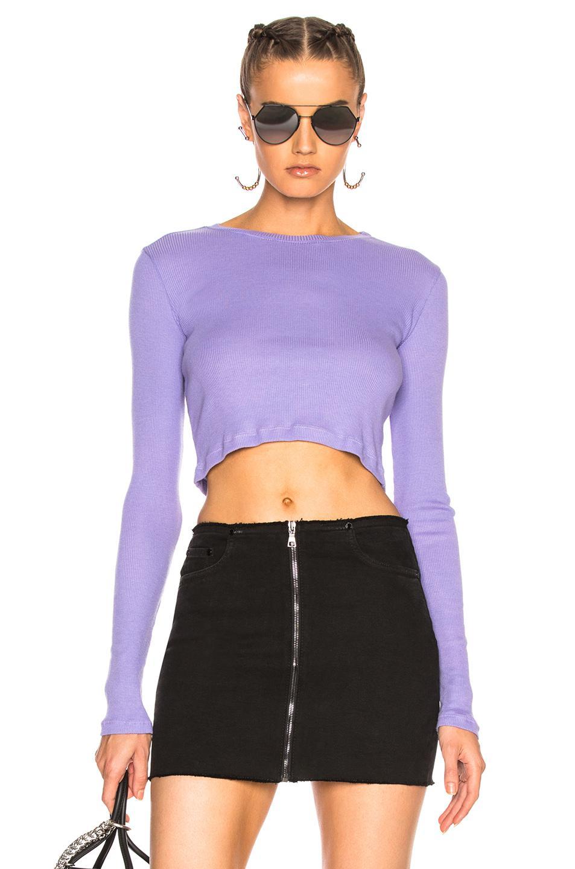 e205970e87f Cotton Citizen Venice Long Sleeve Crop Tee in Purple - Lyst
