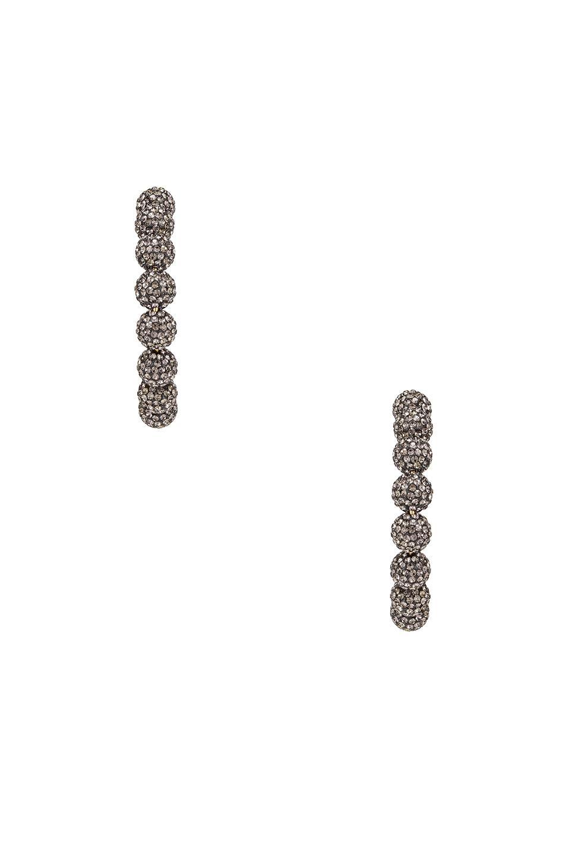 346a8f5ae Lele Sadoughi Stardust Crystal Hoop Earrings in Metallic - Lyst