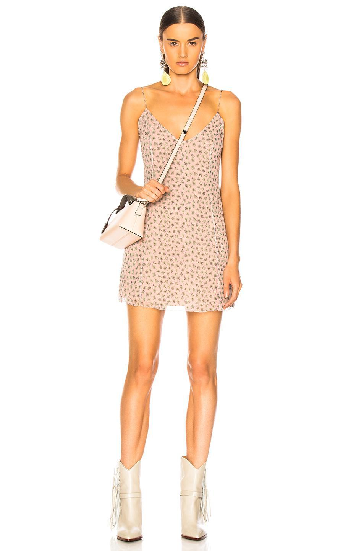 665f415bcf623 Lyst - Amiri Floral Print Slip Dress in Pink