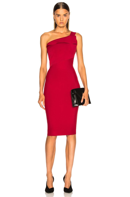 59f55ac7bb7 Roland Mouret Hepburn Knit Dress in Red - Lyst