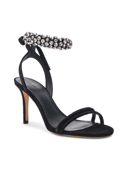 Womens Alrin Crystal-Embellished Suede Sandals Isabel Marant rJsGGN
