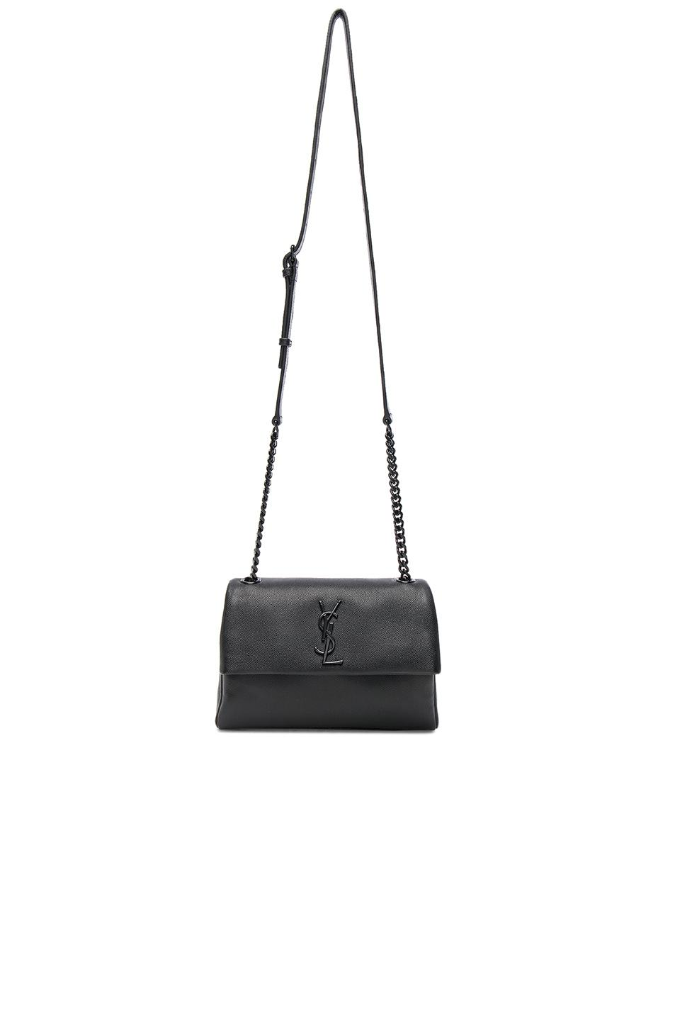2d81d4603a96 Saint Laurent Small Supple Monogramme West Hollywood Bag in Black - Lyst