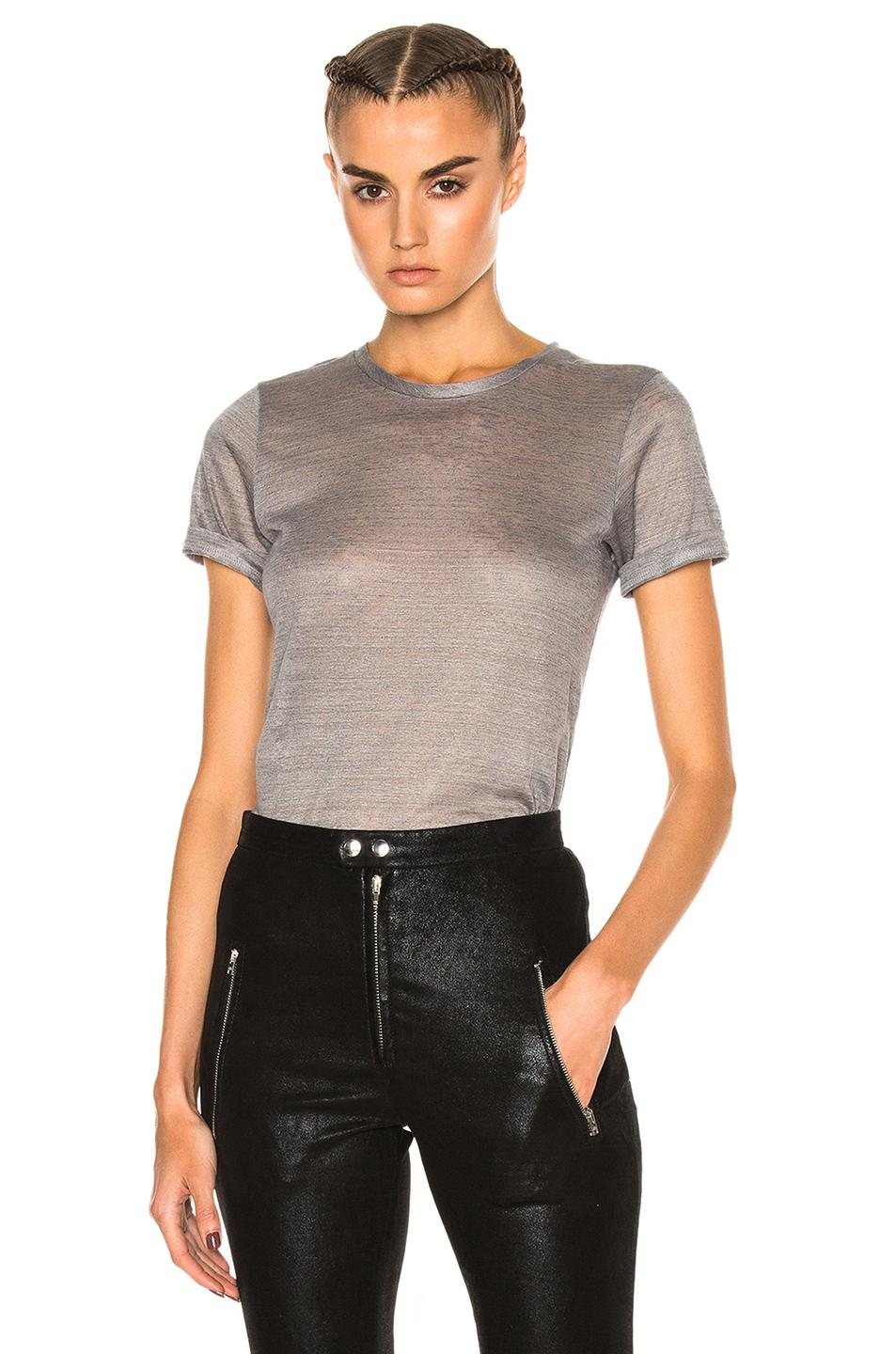 Isabel marant madras tee in gray lyst for Isabel marant t shirt sale
