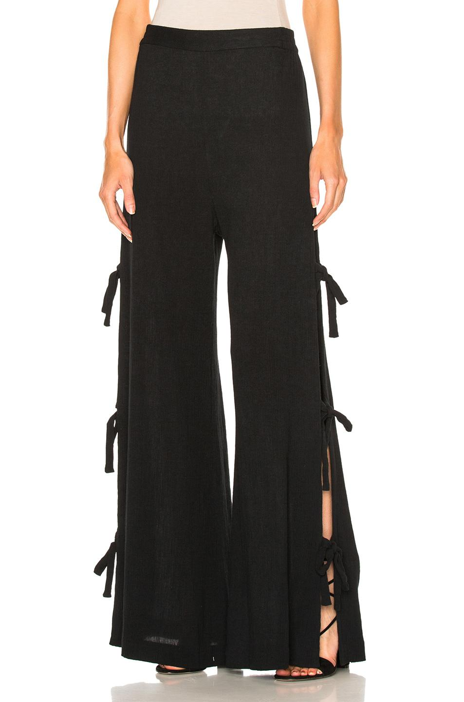 Creative Raquel Allegra Tiefront Silk Tapered Pants In Black  Save 60  Lyst