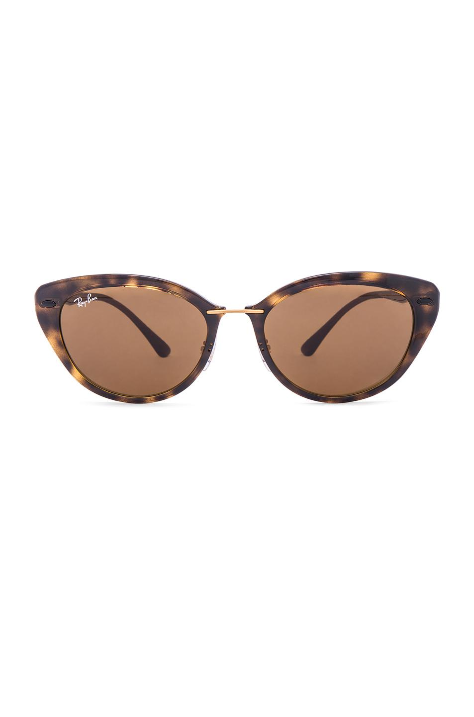 lyst ray ban cat eye sunglasses in brown. Black Bedroom Furniture Sets. Home Design Ideas