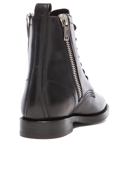 c8ff39fd410 Saint Laurent Ranger Leather Combat Boots in Black - Lyst