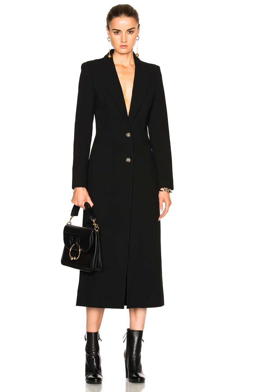 Smythe brando coat in black lyst for Smythe designer