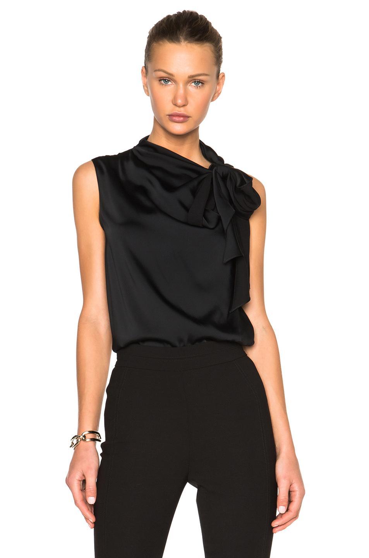 Lyst Victoria Beckham Heavy Matte Satin Sleeveless Tie