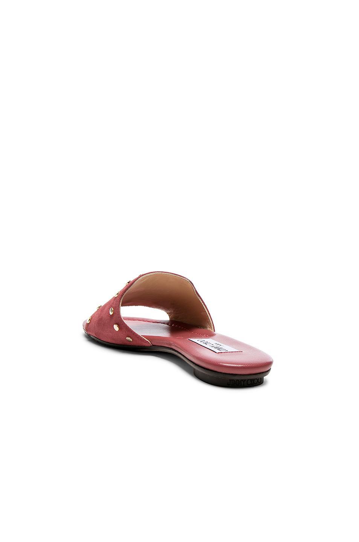 67f2de834b2 Lyst - Jimmy Choo Suede Nanda Slide Sandal in Pink
