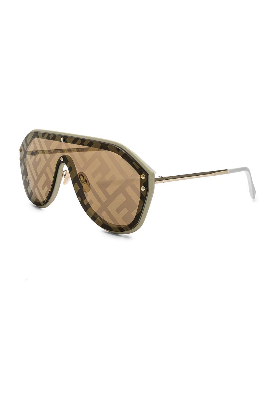 4dc9ca79b5 Fendi - Natural Logo Face Sunglasses - Lyst. View fullscreen