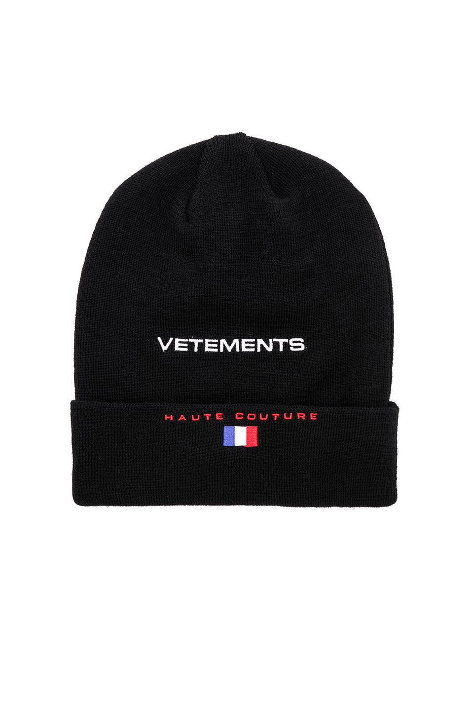 4fadd4b1b49 Lyst - Vetements Reebok Beanie in Black