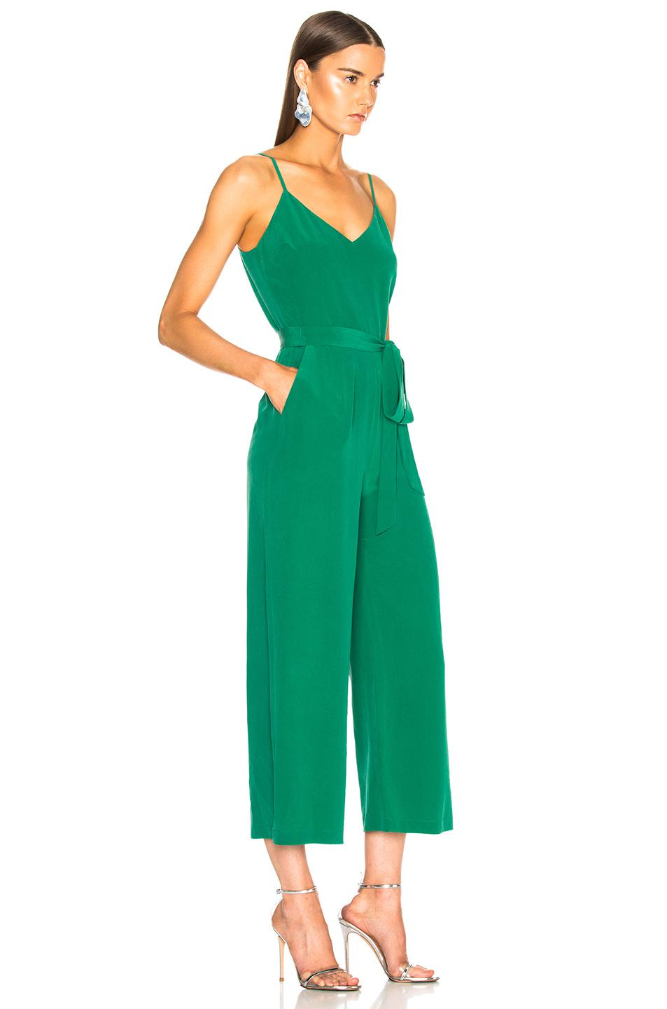 eff51738c00 L Agence Jaelyn Camisole Jumpsuit in Green - Lyst