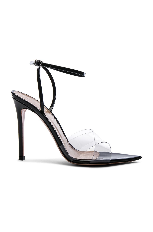 1450137459f Lyst - Gianvito Rossi Patent   Plexi Ankle Strap Stark Sandals in Black