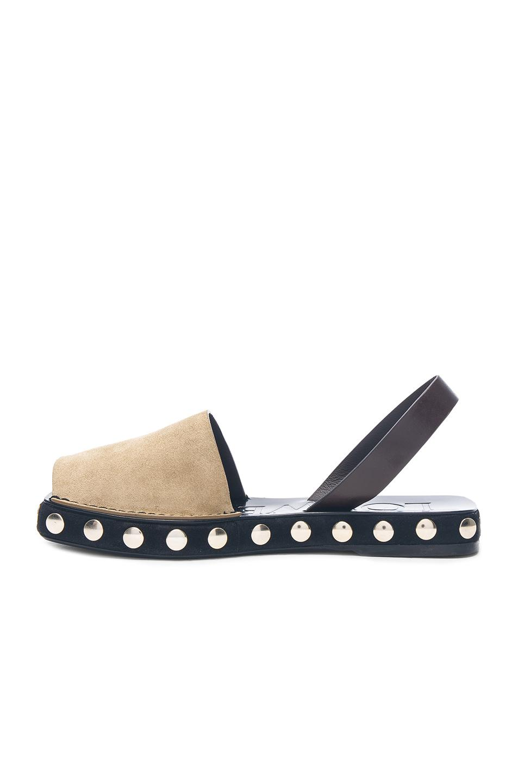 Loewe Studded Suede Slingback Sandals u6547gZn