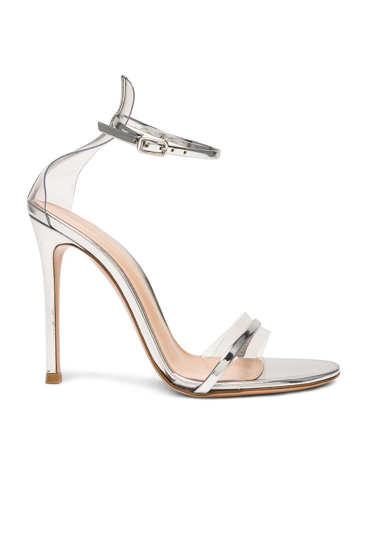 53fe18735 Gianvito Rossi Leather Plexi G-string Heels in Metallic - Lyst