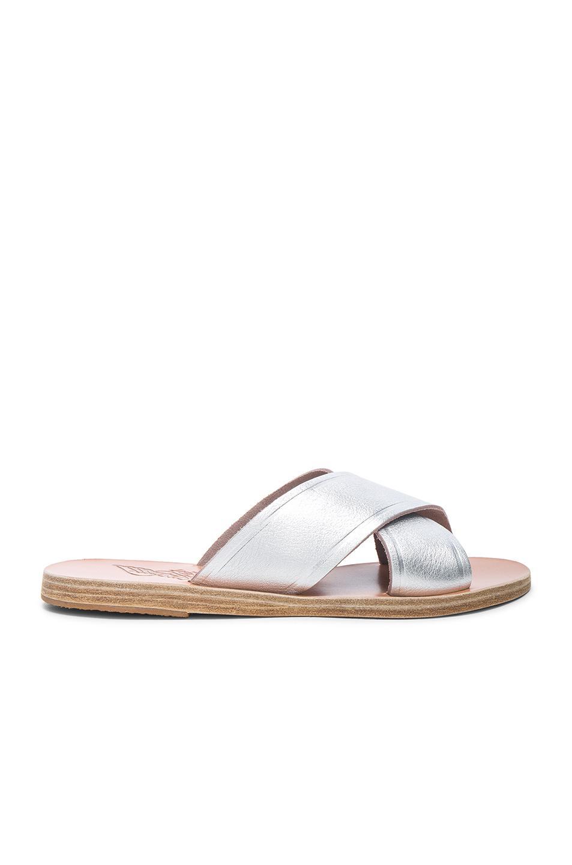 Ancient Greek Sandals Sequin Thais Sandals in ,Metallics.