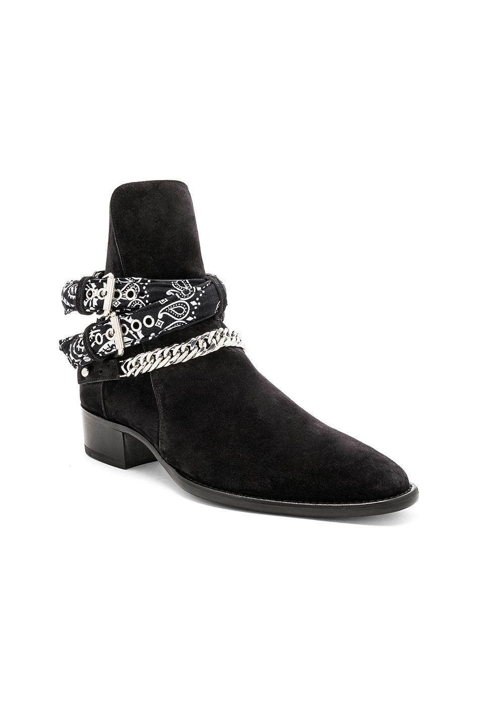 Amiri Suede Bandana Buckle Boot In Black For Men Save 42