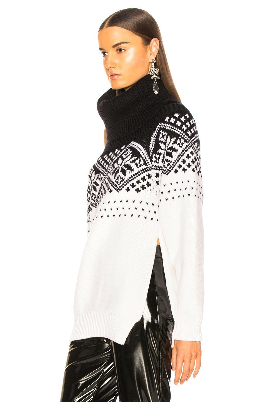 1a5d4f2e4a5f74 Monse - Black Snowflake Cold Shoulder Sweater - Lyst. View fullscreen