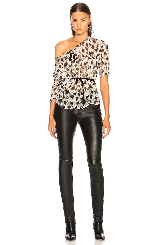 e87532049dd2 Ann Demeulemeester Leopard Print Blouse in Black - Lyst